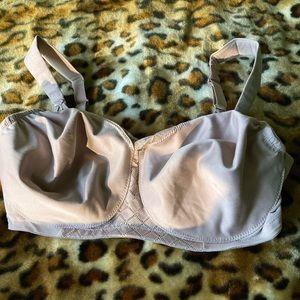 Glamorise Tan Non Wired Lace Bra Size 36DD